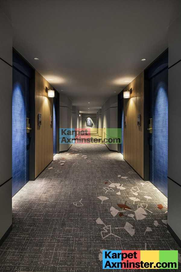 Karpet Koridor Hotel Axminster Corak Modern Minimalis Elegant
