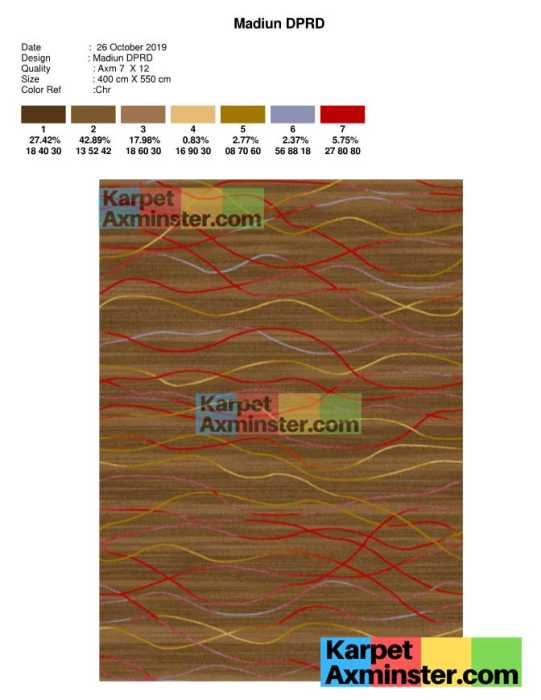 Desain Karpet Ruang Paripurna DPRD Madiun