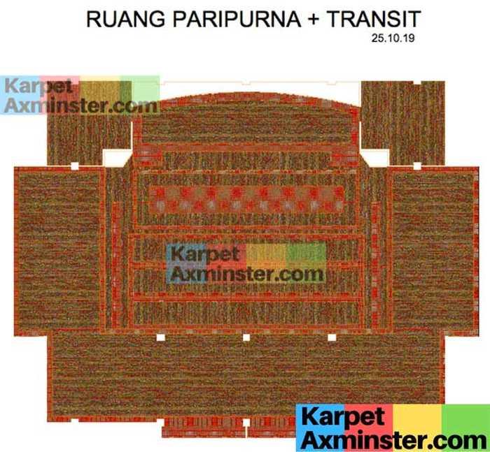 Layout Karpet Axminster Ruang Paripurna DPRD Madiun