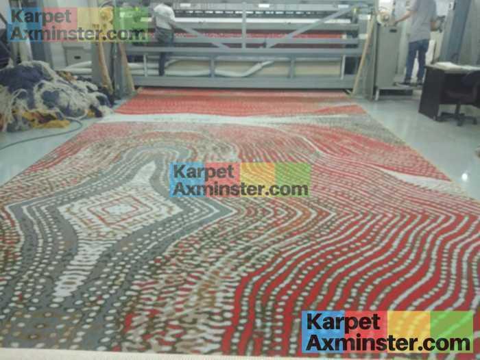 mesin karpet axminster produksi karpet hotel grand inna yogyakarta