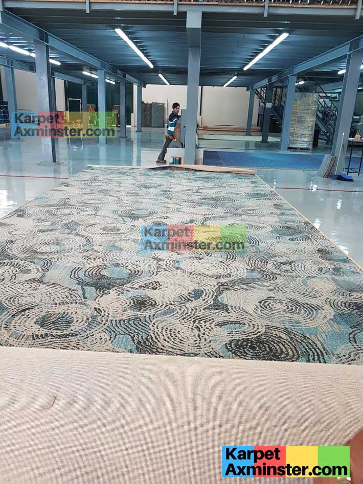 hasil mesin karpet axminster ballroom lampung golden dragon