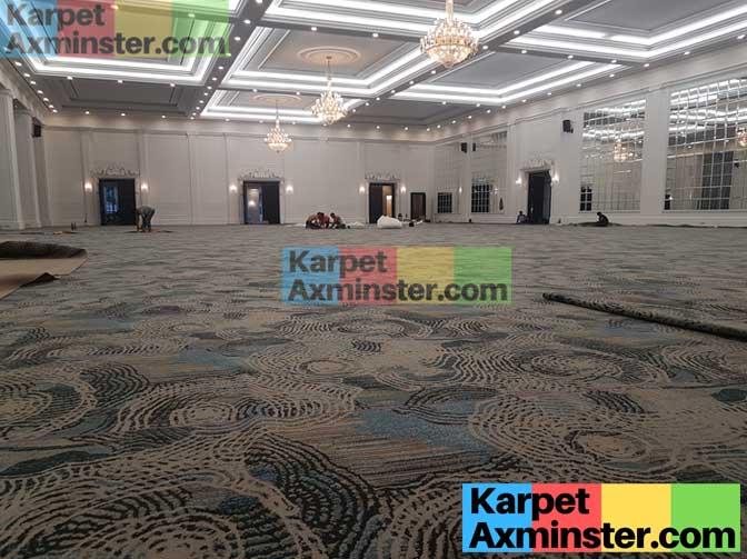 karpet ballroom hotel lampung golden dragon terpasang