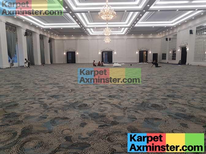 pekerjaan pasang karpet ballroom lampung golden dragon