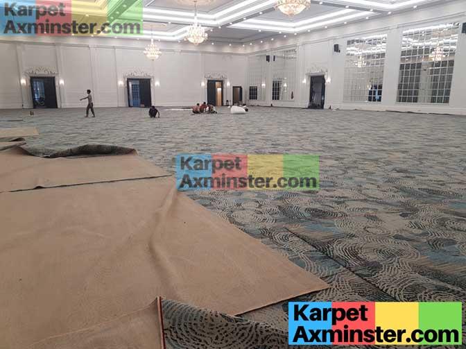 pemasangan karpet ballroom hotel lampung golden dragon