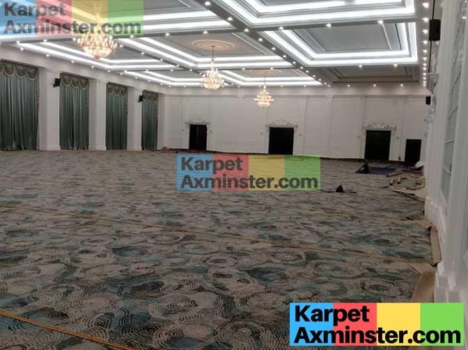 proses pasang karpet axminster hotel lampung golden dragon